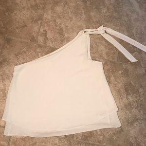 Brand New white one shoulder blouse!!